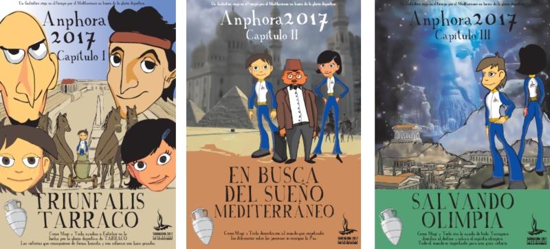 Portadas de capítulos de la serie de dibujos animados de Kico F. Uribe ( Evolutt Studio )