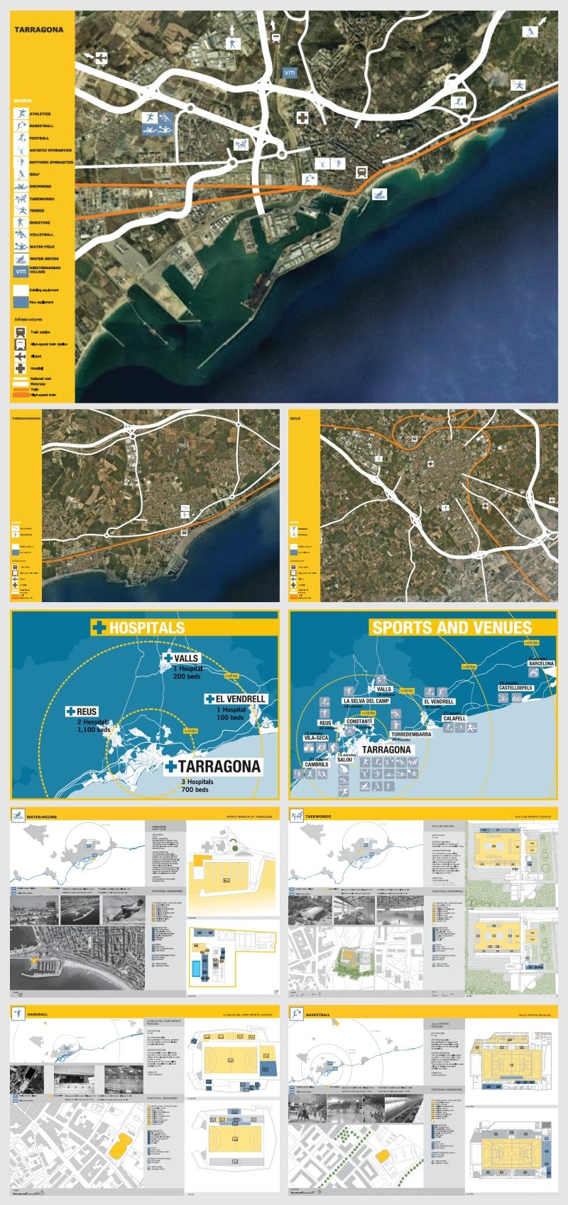 Ilustraciones para el Dossier de Candidatura realizado por Kico Uribe de Evolutt Studio para Tarragona 2017