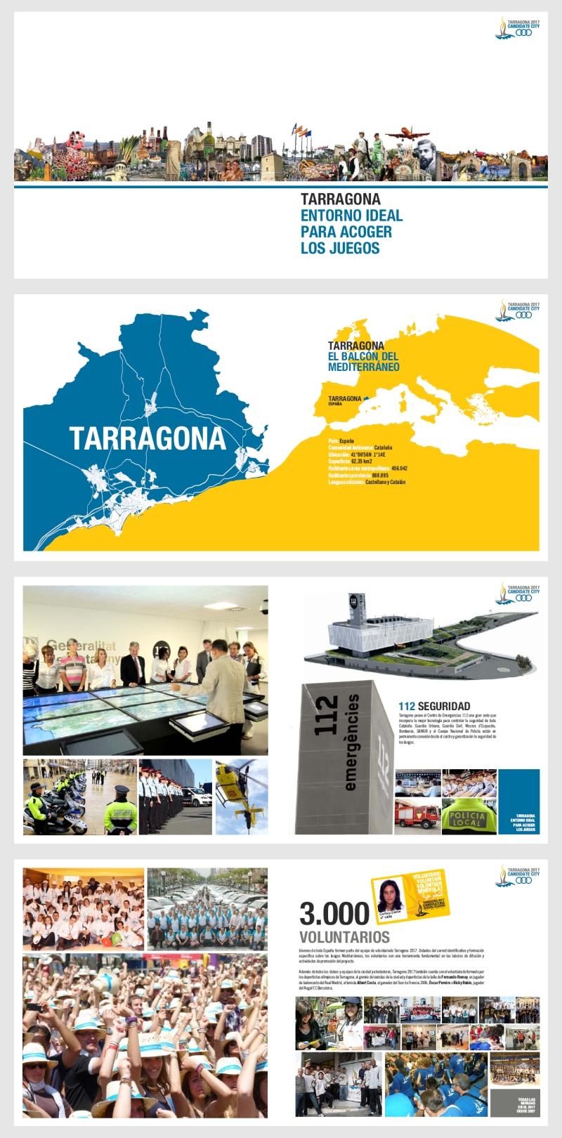 Revista diseñada por Kico F. Uribe para la Candidatura de Tarragona 2017